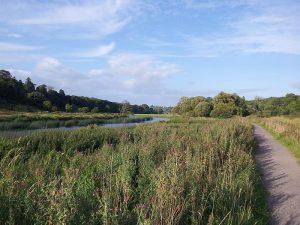 Ramparts walk Slane River Boyne